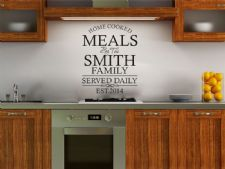 PERSONALISED Family Kitchen Wall Art Quote, Wall Sticker, Decal, Modern Transfer